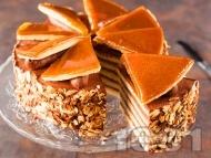 Класическа рецепта за торта Добуш с карамелена глазура